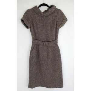Banana Republic Brown White Wool Blend Dress 4